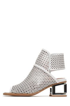 Jeffrey Campbell Shoes AMERIGE-MH Booties in White Punch Silver