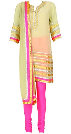 Love the colors in this Abu Jaani and Sandeep Khosla suit