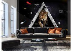 #wallpaper #homedesign #livingroom #modernhome #animals Toddler Bed, House Design, Couch, Living Room, Wallpaper, Animals, Furniture, Home Decor, Chair
