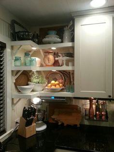 Little prairie girl kitchen shelves