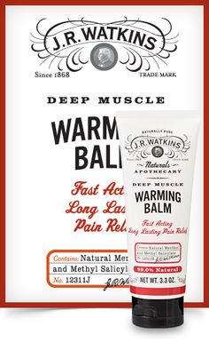 Deep Muscle Warming Balm - Wintergreen extract, menthol and capsaicin join forces to warm up muscles naturally! Carry Deep Muscle Warming Balm in your bag for greaseless, stainless pain relief on the go. It's 99% natural and contains no harmful chemicals like parabens and propylene glycol. Penetrates quickly to relieve muscle tension and soreness, Temporary relief from minor arthritis, Clean-squeeze dispensing. Call 866-363-7009 or visit www.jrwatkins.com/consultant/mimibee to place an…
