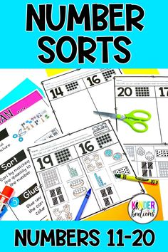 These math picture sorts are a hands-on approach for students to practice and apply number sense skills with numbers 11-20. These are great for whole-class teaching, small group instruction, math centers, independent practice, distance learning, or homework.