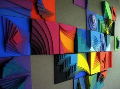 The points determine a line. The lines determine a plane. Sculpture Projects, Sculpture Art, Arte Elemental, Classe D'art, 7 Arts, 8th Grade Art, Atelier D Art, School Art Projects, Middle School Art