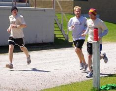 Norwich University men's soccer team raised nearly $900 during its Malia Crushes Cancer fundraiser at the NU football field track.