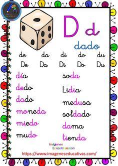 Completa cartilla de lectura. - Imagenes Educativas Alphabet Activities, Preschool Activities, Dual Language, Learning Spanish, Spelling, Literacy, Homeschool, Playing Cards, Classroom