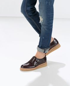 Image 5 of MOCCASIN WITH BUCKLES from Zara