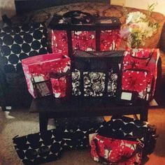 My Thirty-One Collection! Contact me to order everything you'll need for organizing,  storage and travel!♥