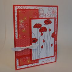 2TC12: Pleasant Poppies by wiebergs - Cards and Paper Crafts at Splitcoaststampers