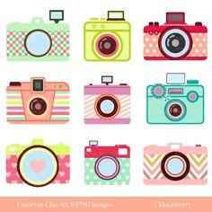 Cute Camera Clip Art CAMERA CLIP ART Retro by MoonberryDigitalArt