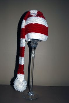 Crochet Santa Hat 24 months up to teen. i have to make one for my mother! she will love it!!!