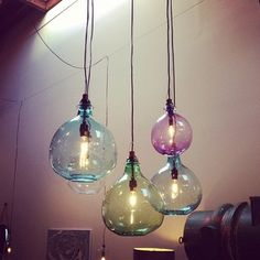 Groovy glass pendants from Cisco Home #lighting