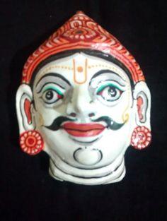 A pattachitra papier mache mask of Yudhistira by PattachitraNet