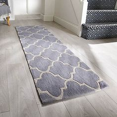 Trellis Patterned Runner | Dunelm Grey Runner, Door Rugs, Trellis Pattern, Staging, Living Spaces, Living Room, Minimalism, Warm, Design
