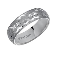 7mm wide tungsten carbide mens wedding band with celtic weave design