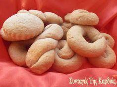 ΣΥΝΤΑΓΕΣ ΤΗΣ ΚΑΡΔΙΑΣ: Κουλουράκια με χαλβά Bagel, Biscuits, Cookies, Cooking Recipes, Bread, Vegan, Blog, Lent, Greece