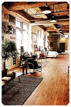 Loft apartment - an interesting and creative form of living - house decoration m. - Loft apartment – an interesting and creative form of living – house decoration more # - Industrial Apartment, Industrial Bedroom, Industrial House, Industrial Interiors, Home Interior Design, Interior Architecture, Stylish Interior, Interior Sketch, Interior Stairs