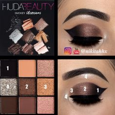 Using Huda Beauty Obsessions Palette @nikitahhx