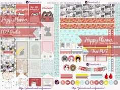 Free Printable Weekly Planner Stickers from PlannerLovers