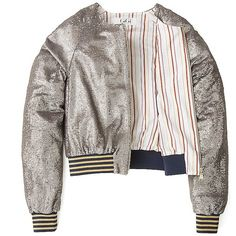 Tommy Hilfiger Sequin Bomber Gigi Hadid (855 RON) ❤ liked on Polyvore featuring outerwear, jackets, white faux jacket, white bomber jacket, sequin jacket, zip bomber jacket and faux-leather bomber jackets