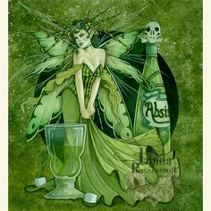 LARGE PRINT THE ABSINTHE FAIRY (The Green Fairy)