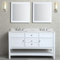 Mayfield 60-inch Double-sink Bathroom Vanity Set | Overstock.com Shopping - The Best Deals on Bathroom Vanities