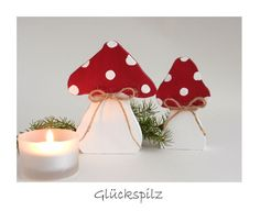 Deko-Objekte - Zwei Fliegenpilze Pilze - ein Designerstück von uggla-deko bei…