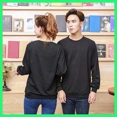 2017 Both Sweatshirt O Neck Long Sleeve Autumn Wear High Quality Black Pink Color Sweatshirts