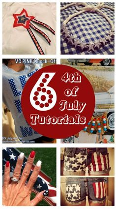 diy home sweet home: 6 4th of July Tutorials