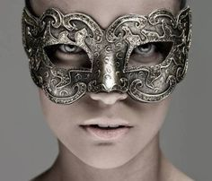 metal masquerade mask.
