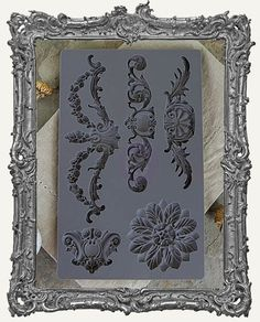 K--2--IOD Iron Orchid Vintage Art Decor Mould - Baroque 3