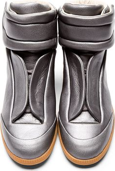 Maison Martin Margiela: Silver Future High-Top Sneakers