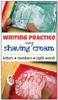 Escribir con crema de afeitar