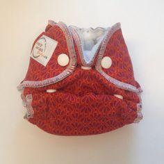 BamBam Baby Favorite Brand!! www.bambambaby.ca  Red Fantail  Newborn Hybrid Fitted Diaper by SimplyLavishBaby