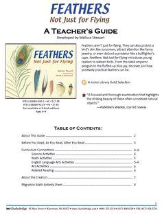 Teachers Guide to accompany this book: http://www.melissa-stewart.com/pdf/Feathers_TeachersGuide.pdf