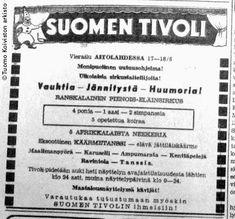 Sirkusteltta: Suomen Tivoli 1950