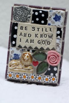 Be Still and Know I am God mosaic art by Lisabetzmosaicart on Etsy, $38.00