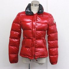 AUTHENTIC MONCLER CLAIRY Down Jacket Coat Red Size00