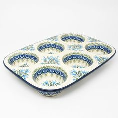 Polish Pottery Ceramic Muffin Pan