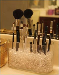 Glass Bead Make Up Organizer