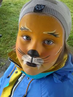 Tiger. Facepaint. Ansiktsmaling. Made by Jane M Trolle. Norway.