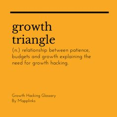 Relationship between Patience, Budgets and Growth explaining the need for growth hacking. Growth Hacking, Event Marketing, Patience, Budgeting, Relationship, Budget Organization, Relationships