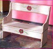 Miniature wooden bench tutorial ~ suitable for garden or rustic farmhouse | Source: Le Petit Monde de la Fee Erie