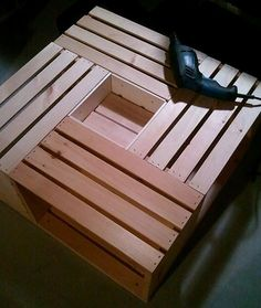 wine table crate...I actually have room for this!!!