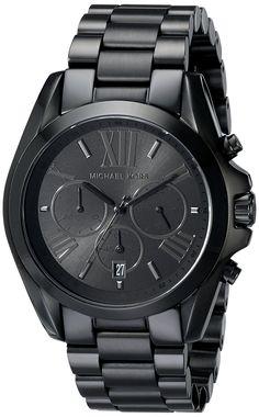 Amazon.com: Men's Black Stainless Steel Quartz Chronograph Date Display Roman Numerals: Michael Kors: Watches
