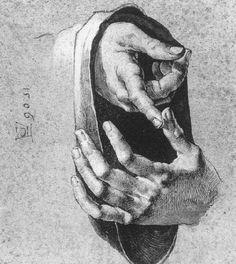 Albrecht Durer Study of Hands  I grandi disegnatori si contano sulla punta delle dita