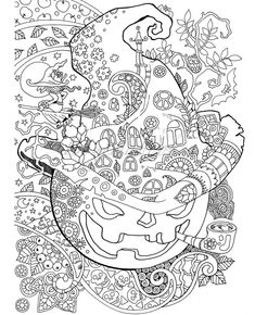 Halloween Grownup coloring guide PDF coloring pages digital coloring pages to alleviate stress coloration to loosen up Disney Halloween Coloring Pages, Witch Coloring Pages, Pumpkin Coloring Pages, Coloring Pages For Grown Ups, Printable Adult Coloring Pages, Cute Coloring Pages, Animal Coloring Pages, Coloring Books, Alphabet Coloring