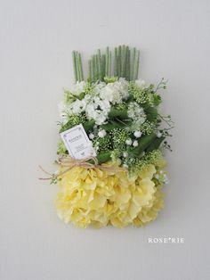 お祝いのお返しに♡の画像 Floral Wreath, Wreaths, Crown, Table Decorations, Flowers, Yellow, Home Decor, Floral Crown, Corona