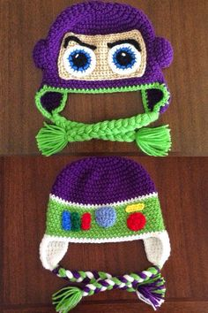 Crochet patterns inspired by toy story - the craft adventuresAmigurumi Buzz Lightyear, crochet toy storyCrochet Toys Story Buzz Lightyear 21 ideasCrochet Toys Story Buzz Lightyear 21 ideasCrochet Toys Story Buzz Lightyear 25 ideasCrochet Toys Story Crochet Kids Hats, Love Crochet, Crochet Crafts, Yarn Crafts, Crochet Projects, Knitted Hats, Disney Crochet Hats, Crochet Amigurumi, Crochet Beanie