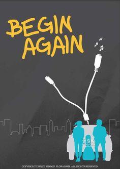 Begin again minimal poster design
