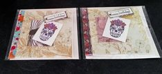 """6"""" x 6"""" Square Hand painted Candy Skulls Birthday Card Frieda by Prettythings20 on Etsy"""